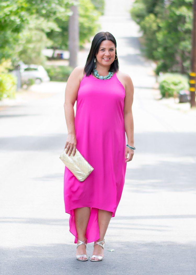 2b50fb91fe2 hot pink maxi dress wedding outfit ideas a la plage style blog womens  fashion