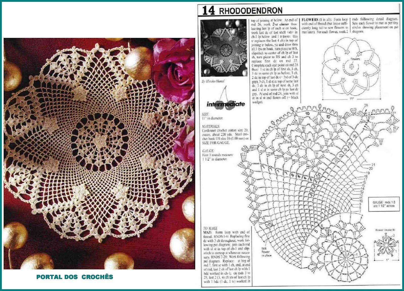 Variedades de crochês com gráficos | Centros de Crochê | Pinterest