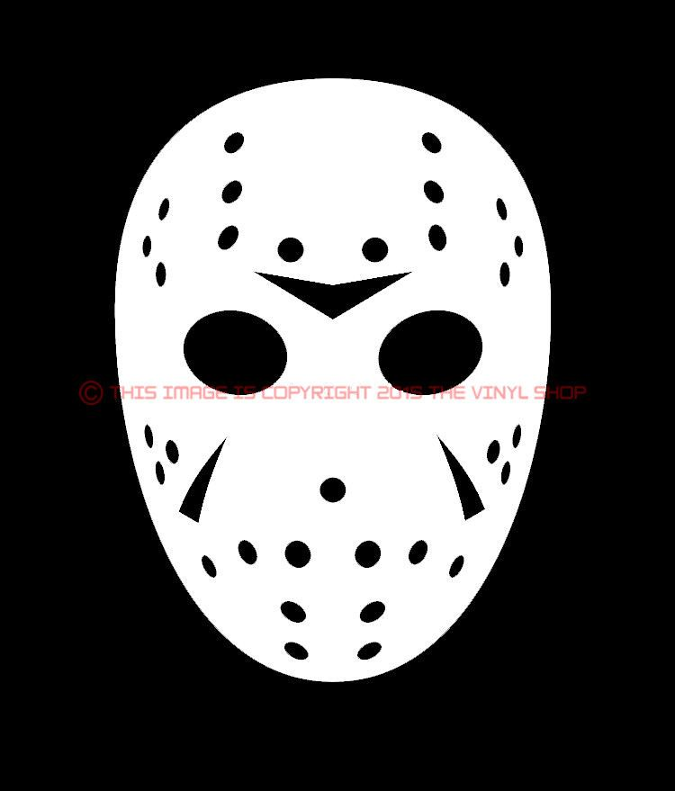 Mask Only Jason Voorhees Friday The 13th Halloween Scary Horror Decal Sticker Ebay Scary Halloween Horror Jason Mask