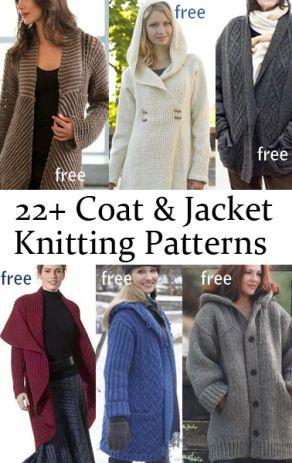 Free Jacket and Coat Knitting Patterns … | Pinteres…