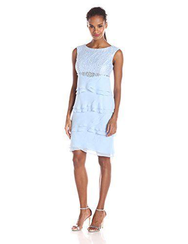 00d909b59eb5 Jessica Howard Women's Beaded Waist Dress with Artichoke Skirt, Periwinkle,  6 Jessica Howard http