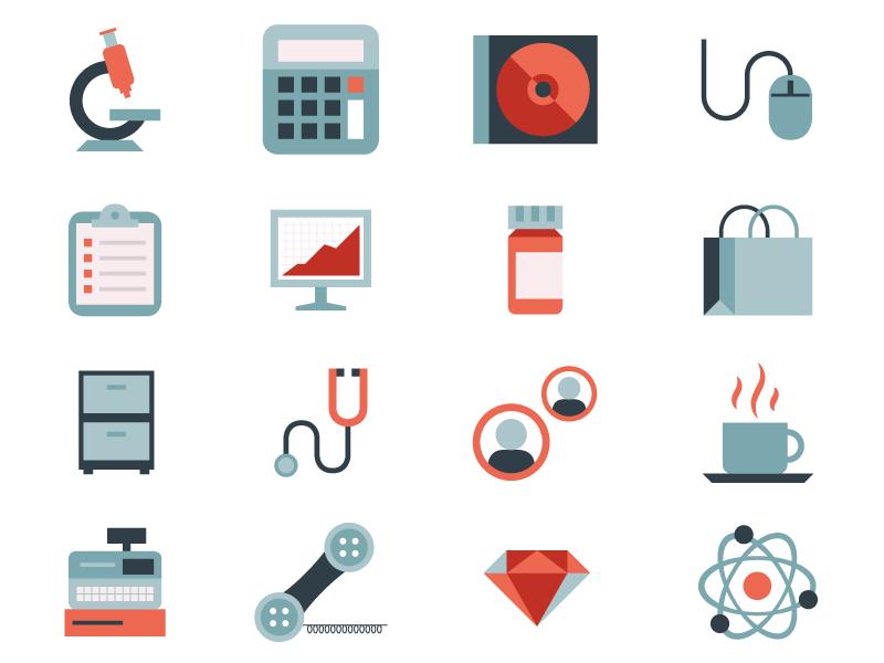Tech Icons Icon Flat Design Illustration App Background