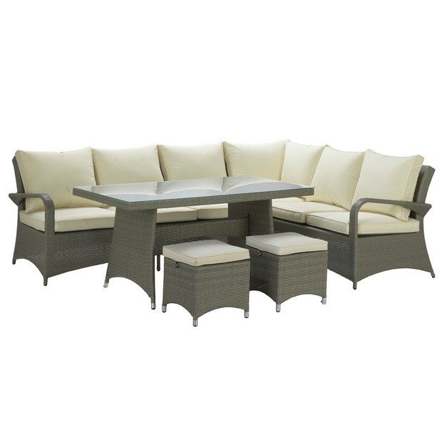 Argos Patio Table And Chairs Cover: Buy Argos Home Seychelles Rattan Effect Corner Dining Set