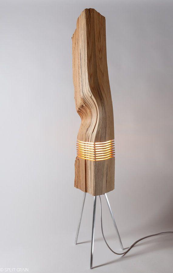 Un éclairage moderne bois Sculpture lumineuse