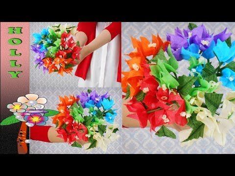 Tissue paper flowers bouquet rainbow bougainvillea youtube tissue paper flowers bouquet rainbow bougainvillea youtube paper flower bouquets tissue paper flowers mightylinksfo