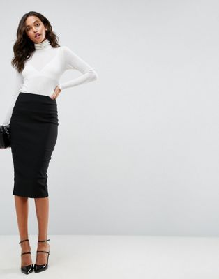 4a8cfb0f6 Falda de tubo larga con cintura alta de ASOS DESIGN en 2019   ropa ...