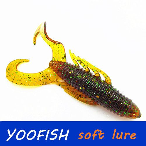 25pcs 8.5g 9cm wholesale Fishing lures sea fishing tackle protein soft lure bait worm fish jig wobblers swivel rubber lure