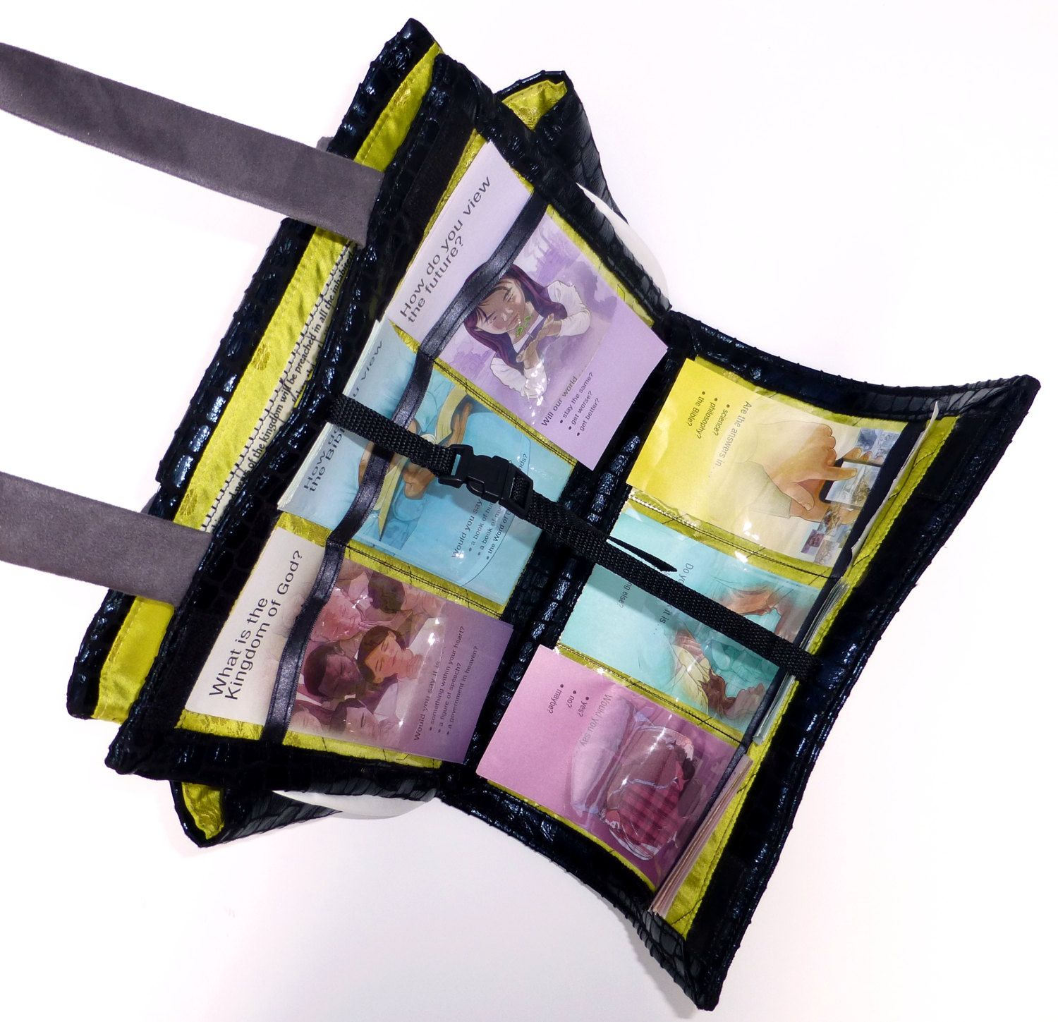 use velcro instead of strap and buckle large field service bag and folder in one special - Field Service Organizer