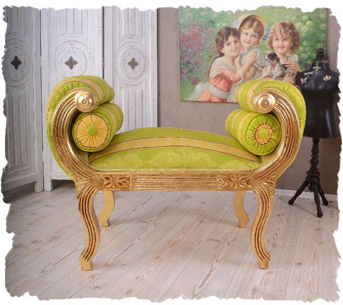Recamiere barock  Vintage Recamiere Barock Sitzbank wohnen wie im Schloss Voluten ...