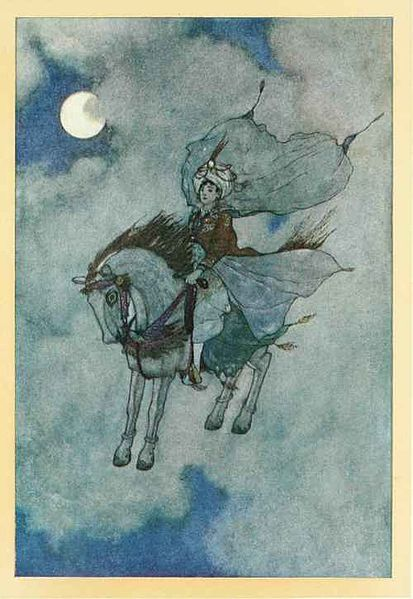 from the arabian nights the story of the magic horse edmund dulac