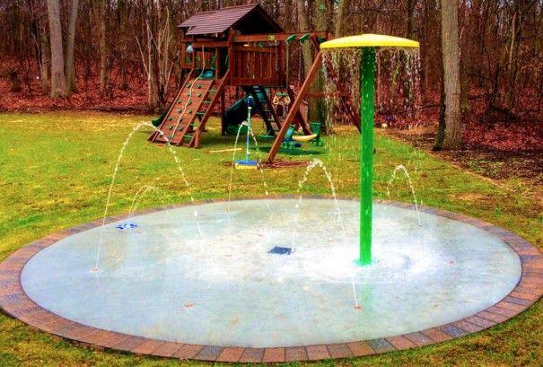 Pelham Manor, New York Splash Pad   Splash pad, Backyard ...