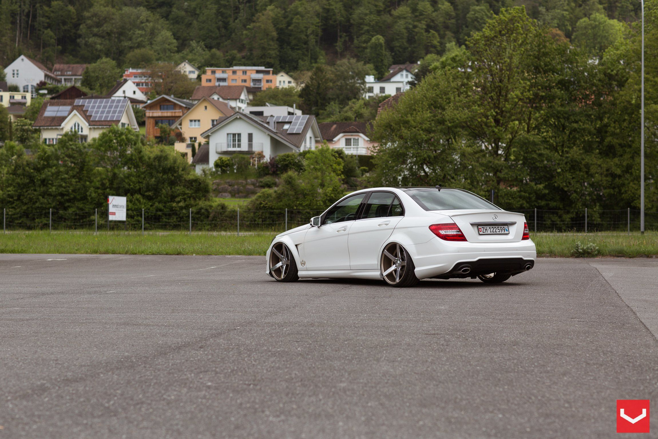 Stanced Mercedes C Class with A Few Aftermarket Parts