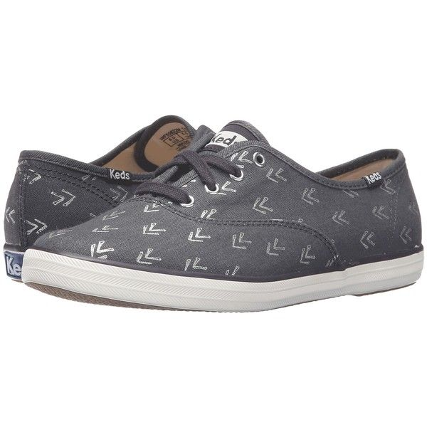 8d9ae52a134 Keds Champion Arrow (Dark Gray) Women s Lace up casual Shoes ( 30) ❤ liked  on Polyvore featuring shoes