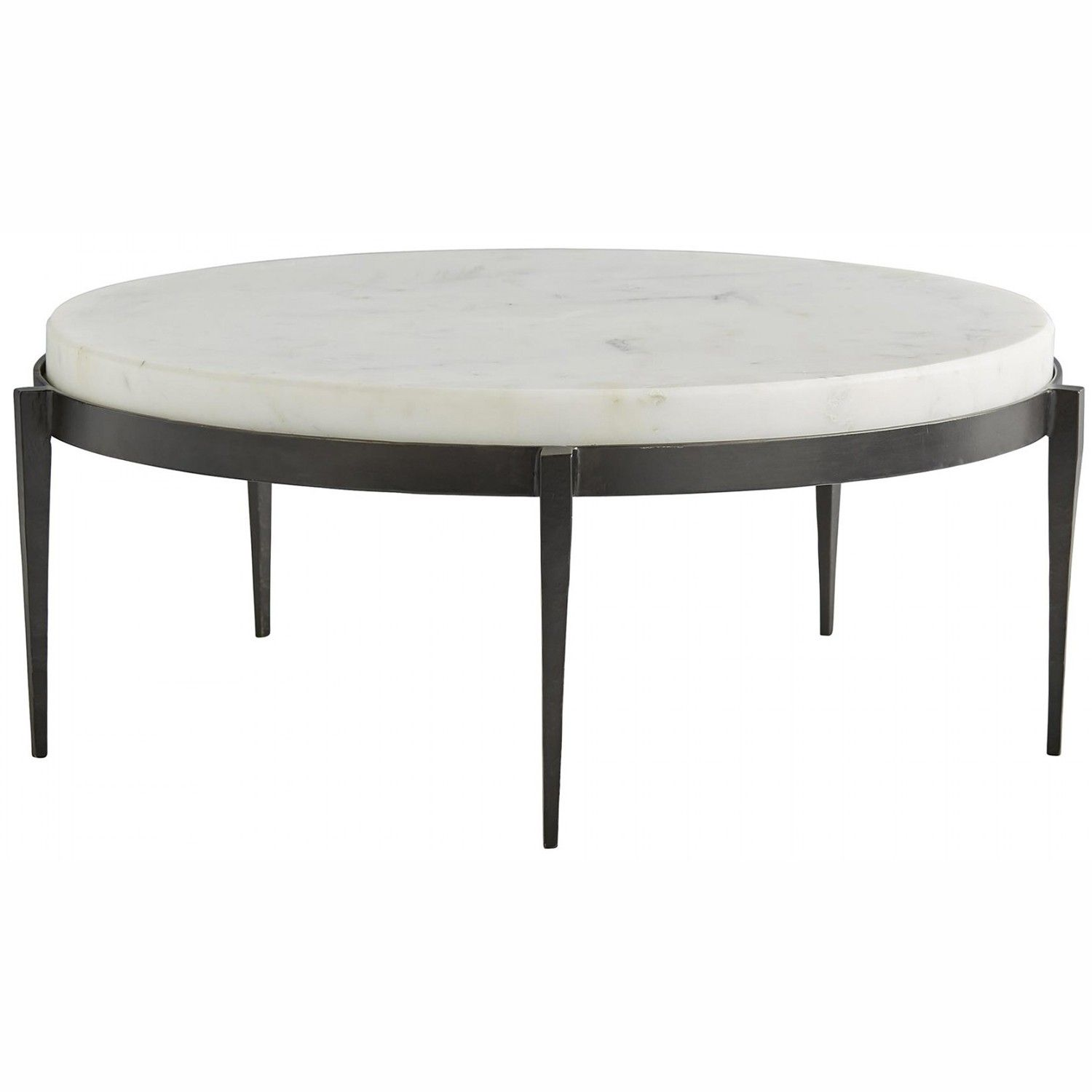 We love the yin and yang on this transitional cocktail table Hand