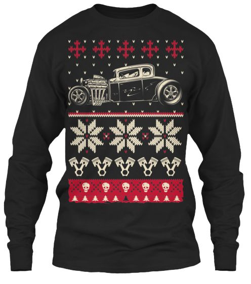 Ugly Christmas Hot Rod Sweater Shirt | Ugliest christmas sweaters ...