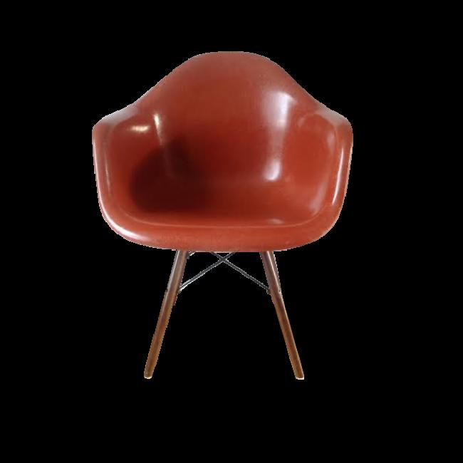 Fauteuil DAW Vintage Dining Armshell Wooden Base Couleur - Fauteuil de couleur design