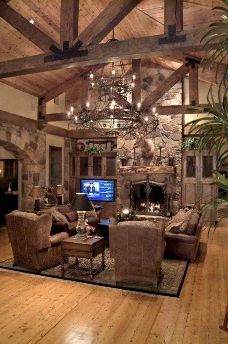 90 amazing rustic living room decor ideas