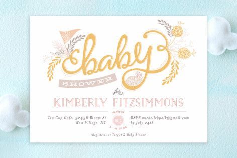 The Lovely Letters Baby Shower Invitations By Phrosn Ras At