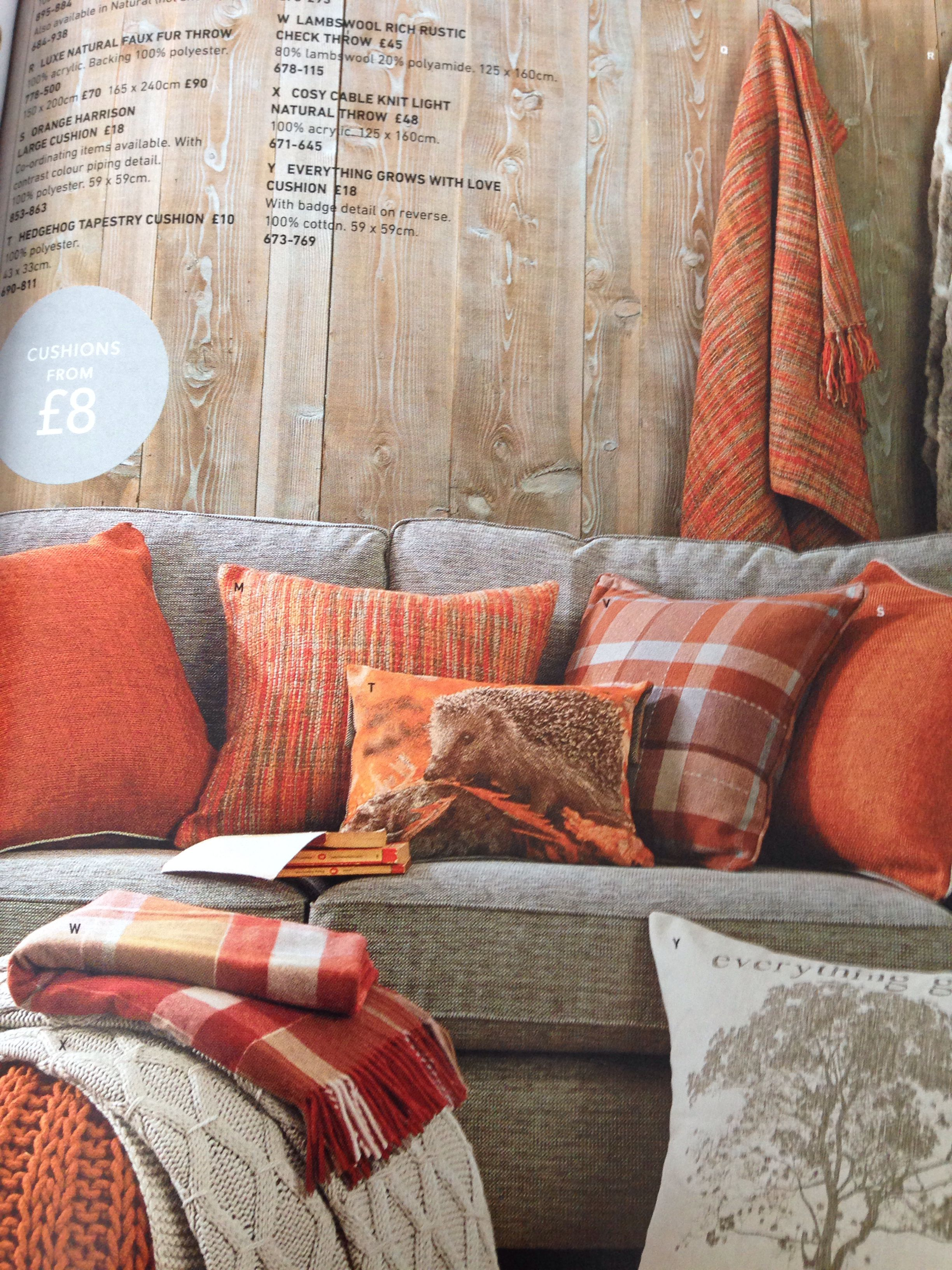 Next Orange Cushions Living Room Orange Burnt Orange Living Room Decor Brown Living Room #orange #and #brown #living #room #decor
