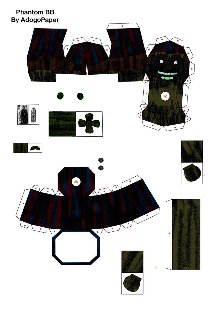 Five Nights At Freddy S 3 Phantom Bb Papercraft P1 By Adogopaper With Images Freddy S Five Nights At Freddy S Freddy