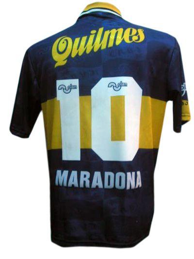 2f942772f Camiseta de Maradona con el Boca Juniors | Boca Juniors | Soccer, Sports