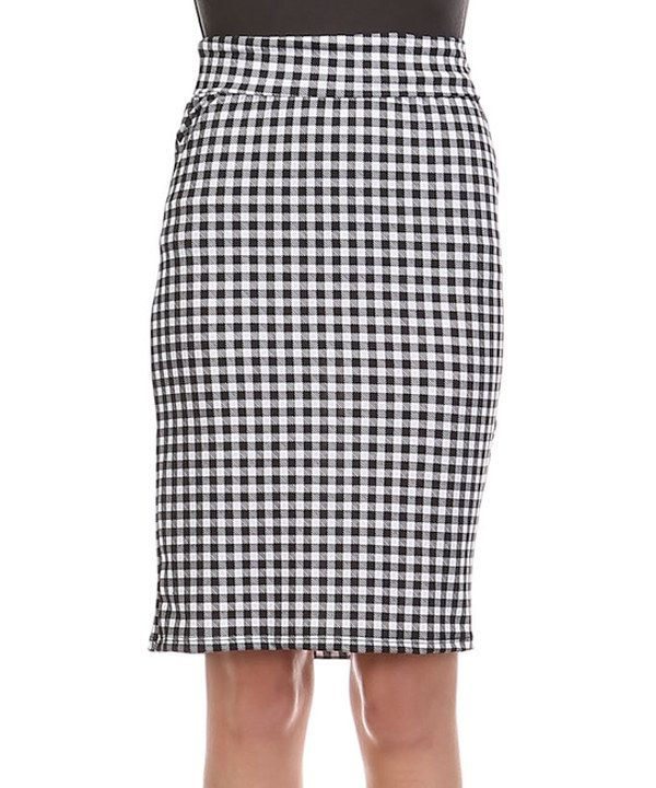 4b582f1acf Look at this BOLD & BEAUTIFUL Black & White Gingham Pencil Skirt on #zulily  today!