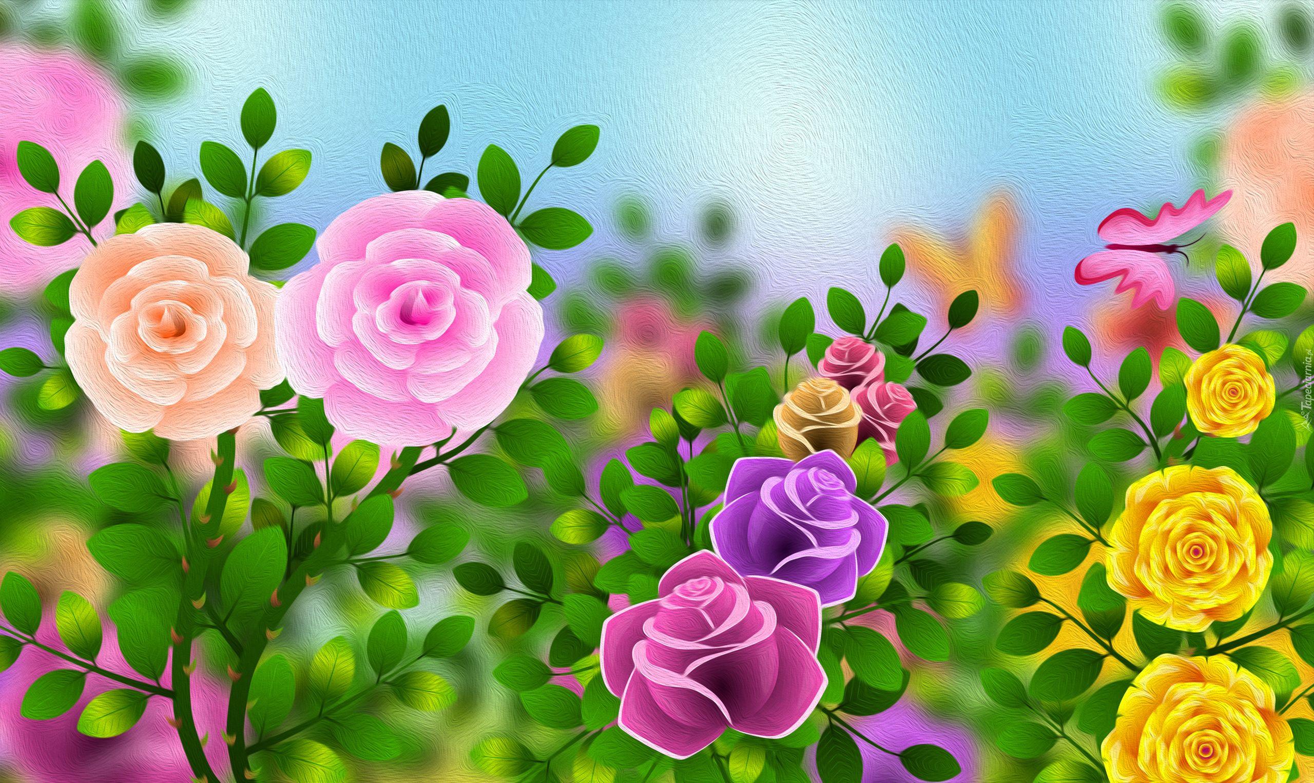 Kwiaty Grafika 2d Flowers Wallpaper Background Images