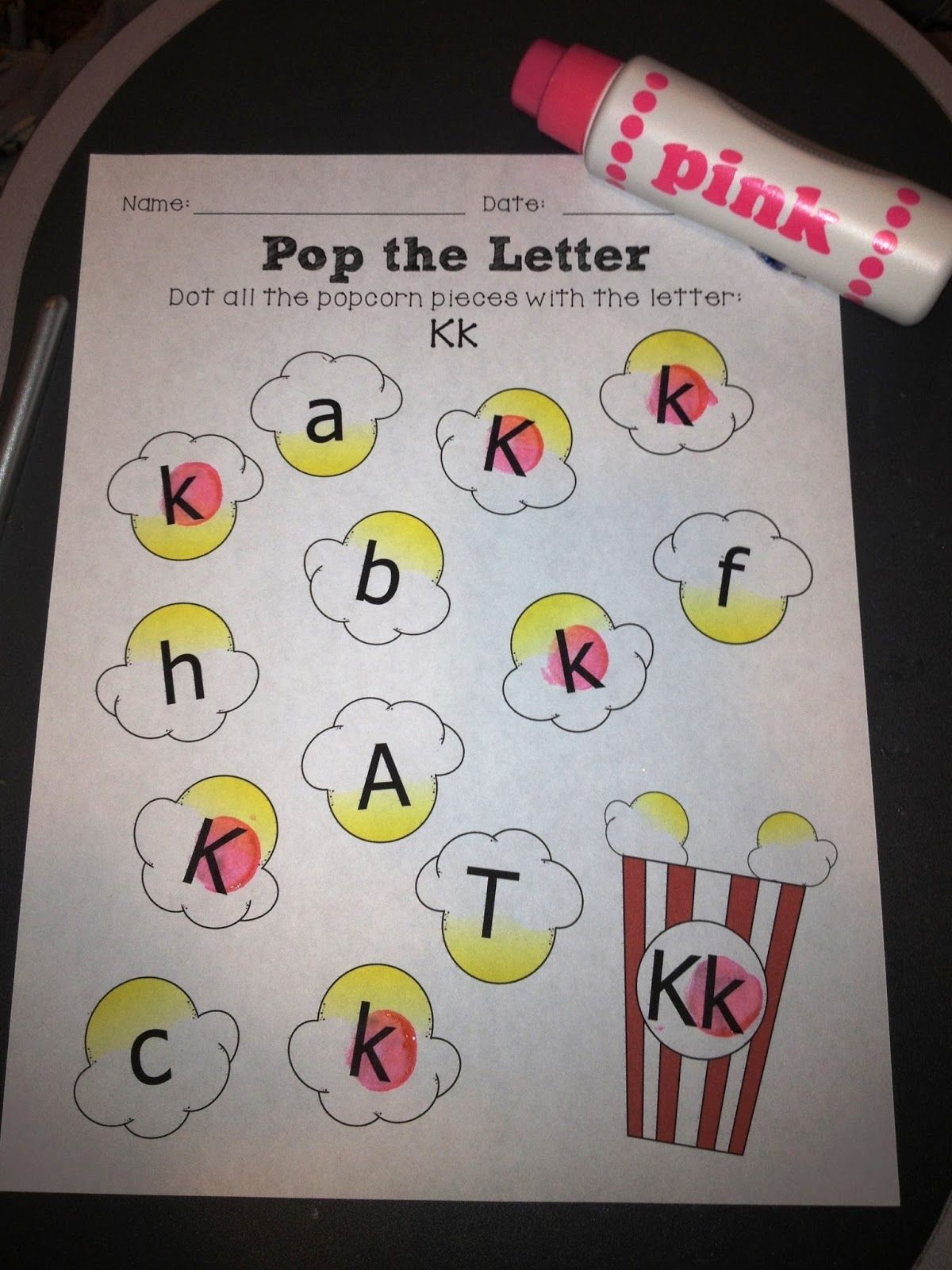 Popcorn Capital and Lowercase Letter Match perfect for National