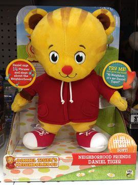 "Tollytots ""Daniel Tiger's Neighborhood"" Daniel Tiger Neighborhood Friend plush"