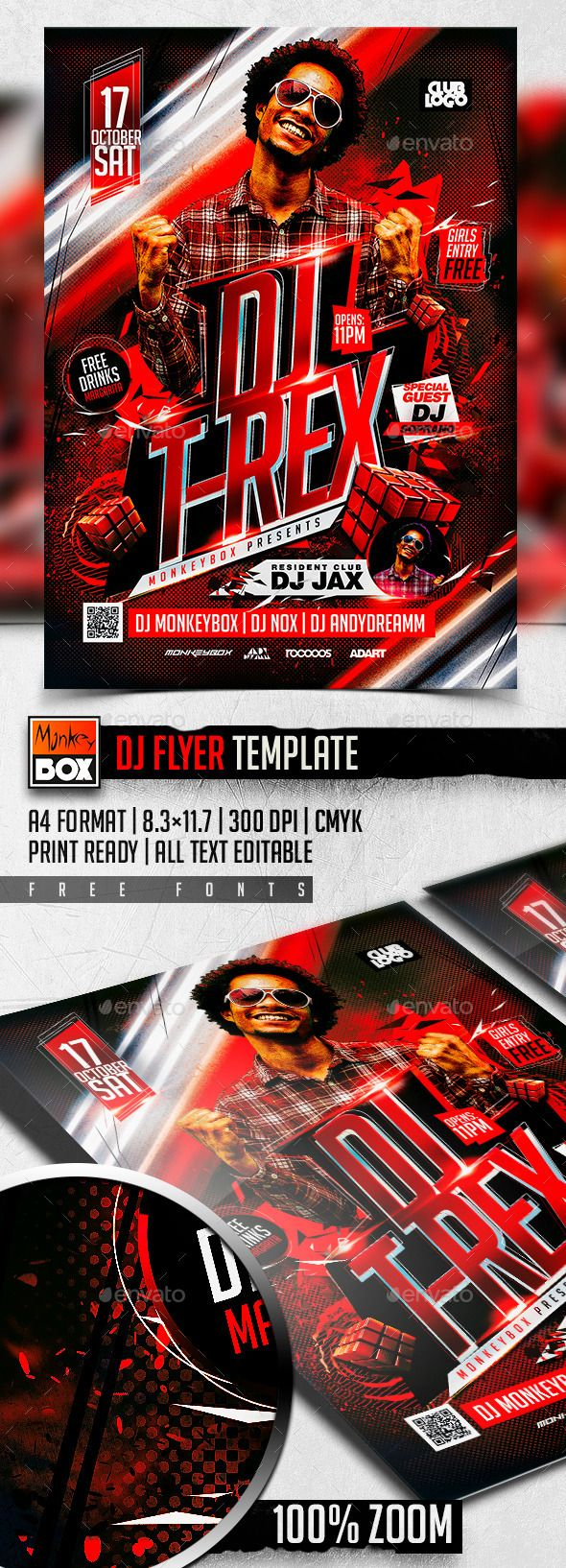 Dj Flyer Template   Pinterest   Flyer template, Template and Flyer ...