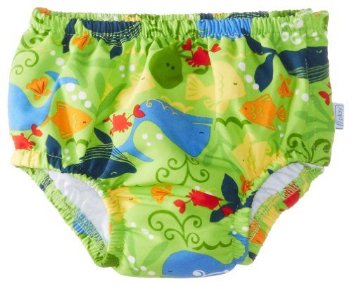Baby Boy Clothes i play. Toddler Boys' Snap Reusable Absorbent Swim Diaper, Lime Sealife, 3T