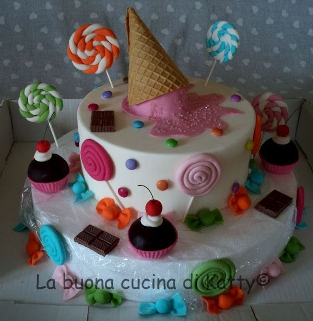 La buona cucina di katty candy cake torta caramelle - La cucina di sara torte ...