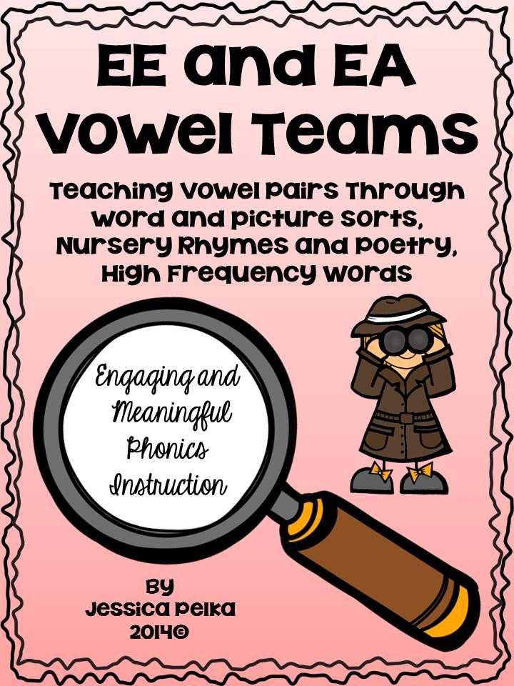 Vowel Pair Ee And Ea Phonics Instruction Using Sorts Poetry And