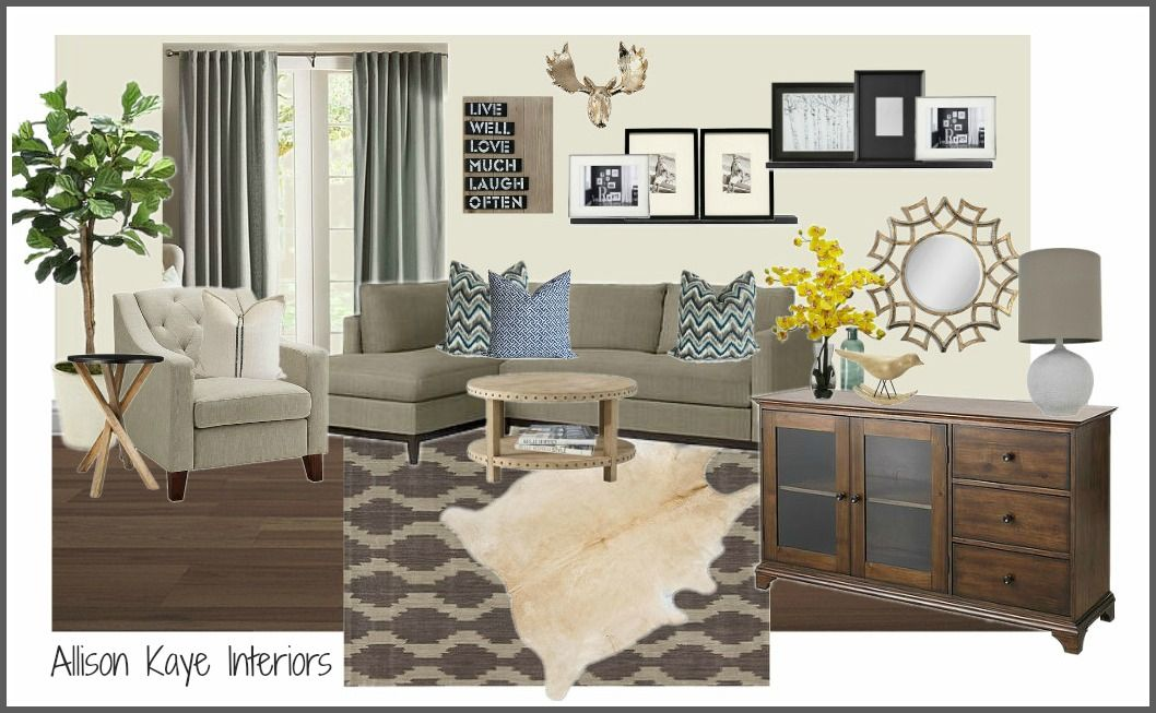 Contemporarycasual Style Living Room Edesign Moodboardvirtual Simple Online Living Room Design Design Decoration