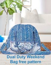 Dual Duty Weekend Bag FREE pattern  Sew Modern Bags FREE Sewing pattern for a bag