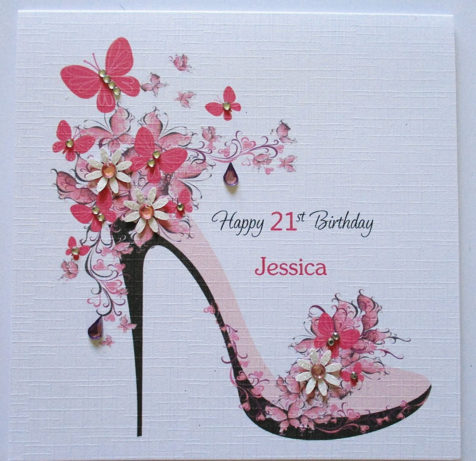Card Making Ideas 21st Birthday Part - 48: Handmade Personalised Female Birthday Card 18th 21st 30th 40th 50th 60th |  EBay More