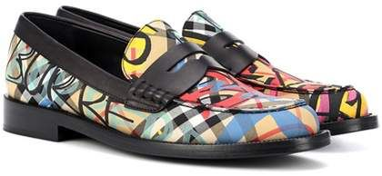 Graffiti check loafers Burberry
