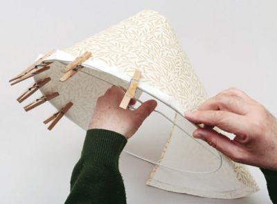 Abat jour conique bord roul tuto pour faire loisirs cr atifs lampe - Recouvrir un abat jour avec du papier ...