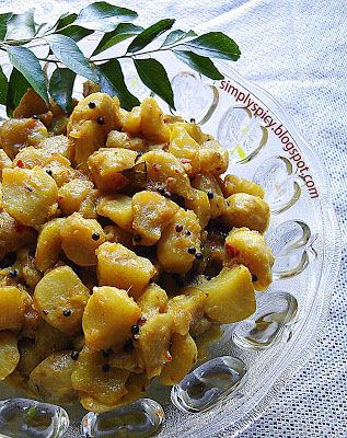 Simply spicy koorkka mezhukkupuratti stir fry kitchenery recipes forumfinder Image collections