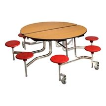 Learniture Round Mobile Stool Cafeteria Table W Mdf Core Https Www