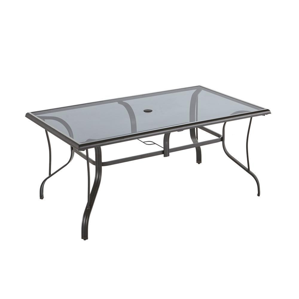 Hampton Bay Statesville Patio Furniture.Hampton Bay Statesville Pewter Rectangle Aluminum Glass Outdoor