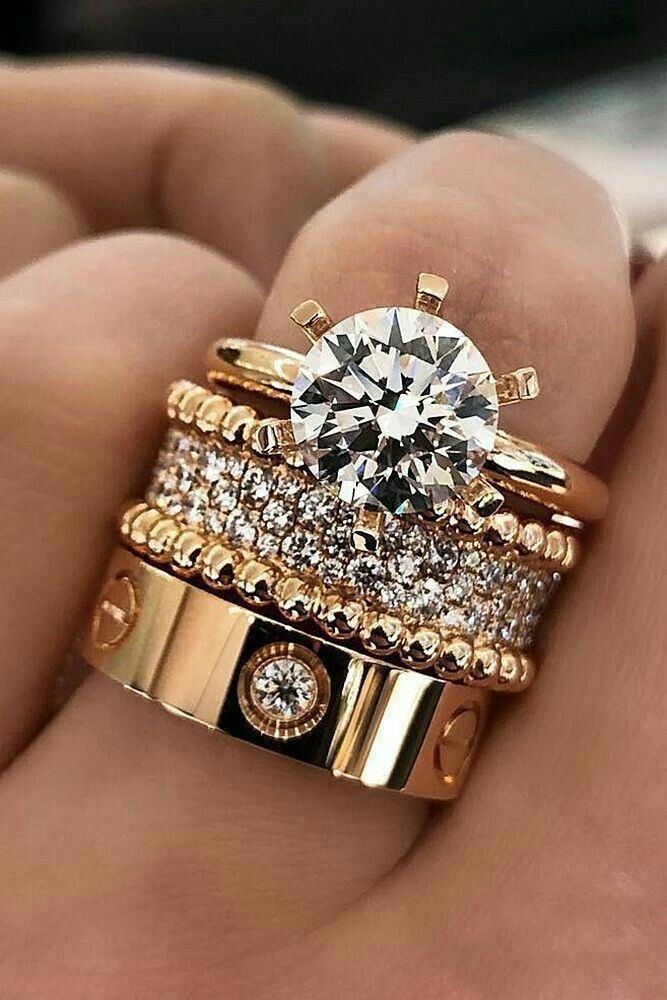 Vintage engagement ring set Oval cut Moissanite engagement ring rose gold diamond wedding Jewelry Anniversary Valentine's Day Gift for women - Fine Jewelry Ideas