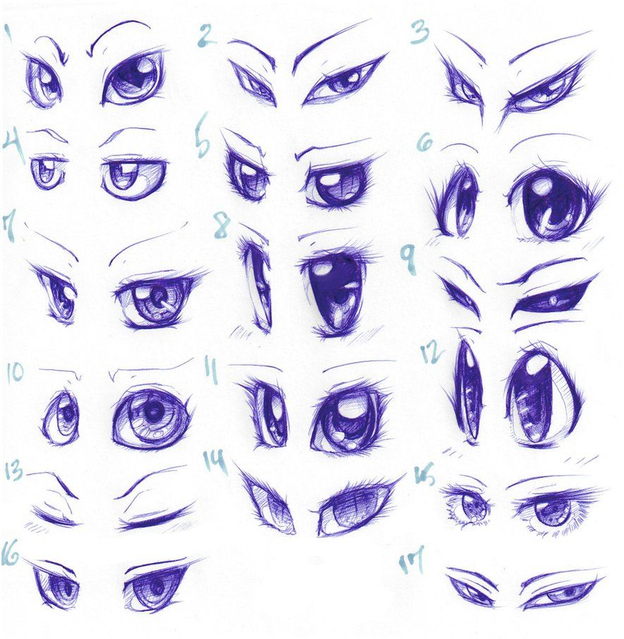 Anime Cartoon Eyes Tutorials By Spadethenightmaren On