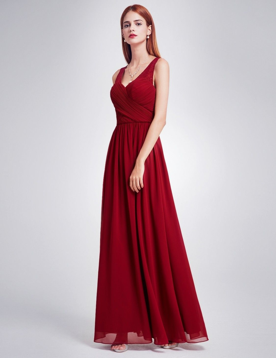 ca735d7d81c64 Sleeveless Ruched Bust Long Evening Dress with Corset Back | Ever-Pretty  #longdress #EverPretty #eveningdress #rucheddress #Occasiondress