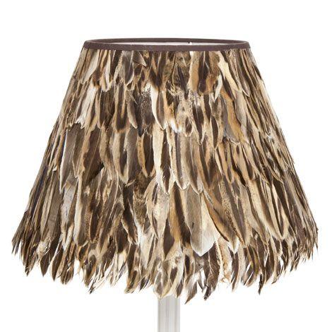 lampenschirm mit federn lampenschirme licht lampen. Black Bedroom Furniture Sets. Home Design Ideas