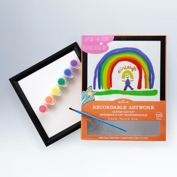 The Recordable Artwork kit from Hallmark is a great gift for parents and grandparents.