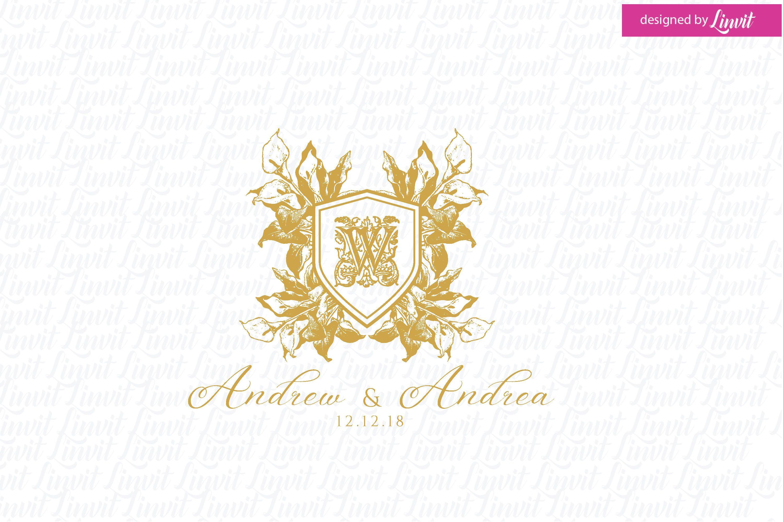 Wedding Logo, Vintage Logo, Vintage Monogram, Wedding