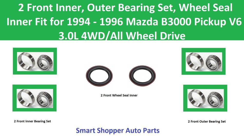 LX L4 2.4L Front Wheel Hub /& Bearing Fit Honda CR-V 2002-2004 PAIR