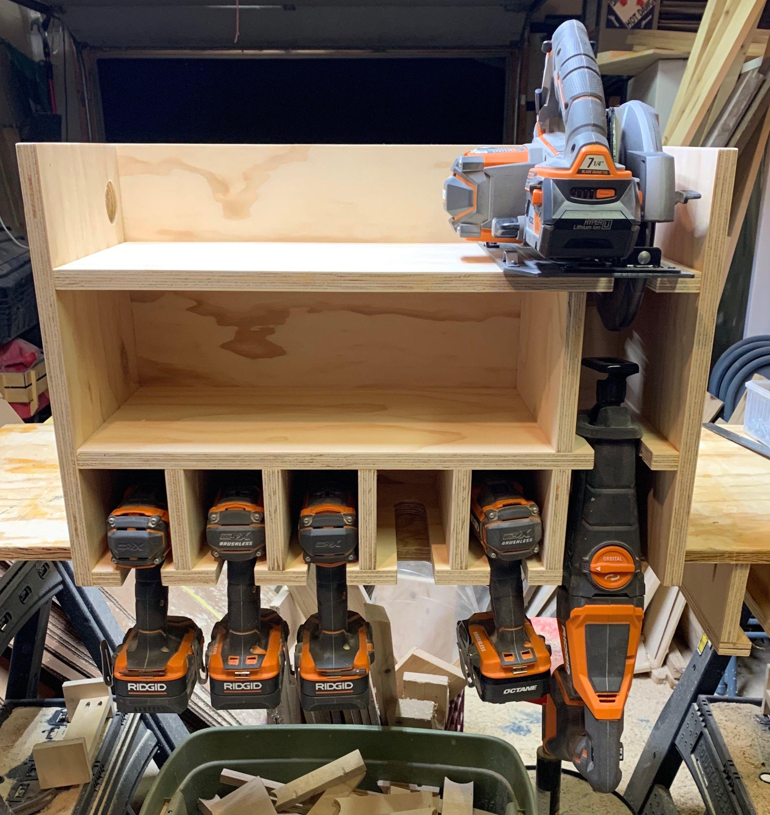 cordless drill organizer in 2020 diy garage storage on inspiring diy garage storage design ideas on a budget to maximize your garage id=95029