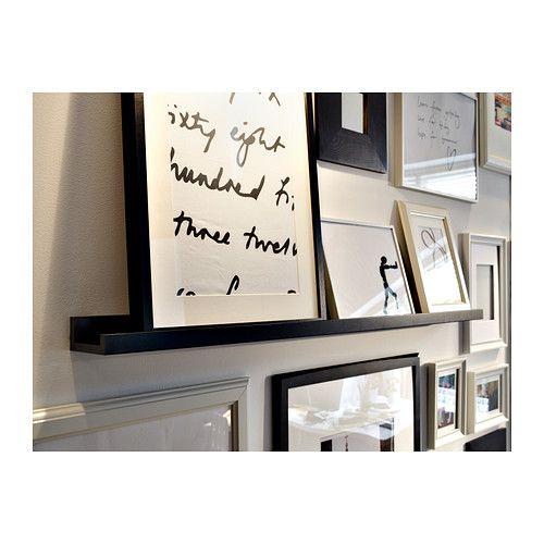 ribba prateleira p molduras ikea o rebordo da prateleira mant m as molduras no lugar interior. Black Bedroom Furniture Sets. Home Design Ideas